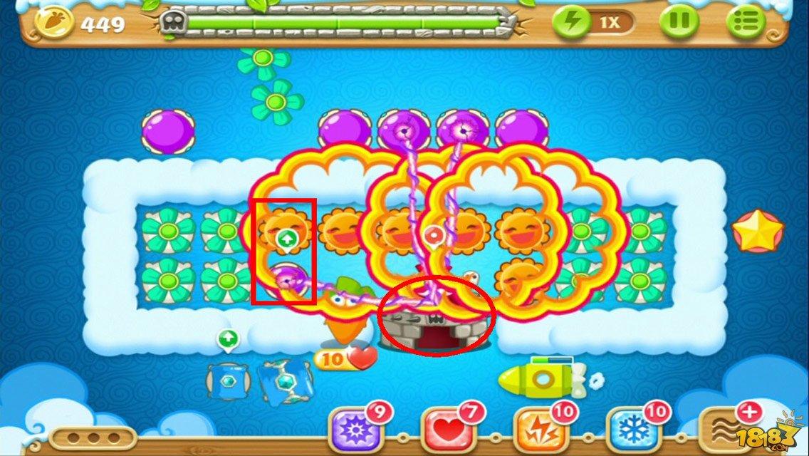 建造太阳花和魔法球,并升满级,同时攻击怪物堡垒