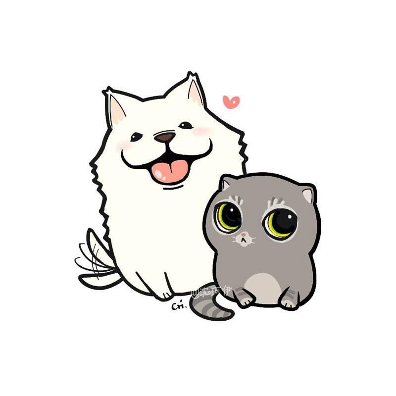超萌可爱小狗卡通