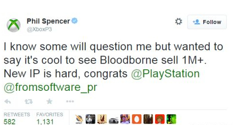 PS4《血源》销量破百万份 Xbox主管发电祝贺 游戏 第1张