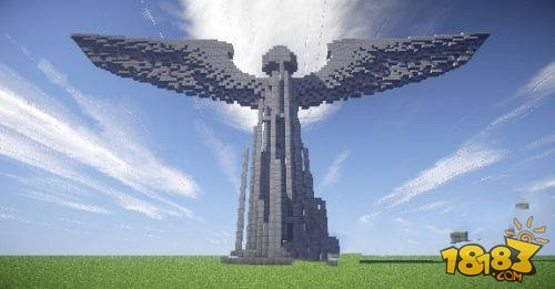 我的世界电脑版1.8大天使雕像建筑存档下载