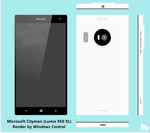 """根据外媒Windows Central消息源透露,上面是Lumia950 XL的设计草图,真机有以下关键内容: • 非常薄(7-8mm),很轻 • 可拆卸的大容量电池,是目前见过最薄的电池 • """"相当性感"""" • 看起来像Lumia928和Lumia830的结合(摄像头防护罩) • 完全的正正方方 • 前面的玻璃覆盖整个前面板,非弯曲屏幕 • 上下音量键被电源键隔离 • 专用的独立相机按键 •"""