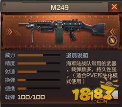 cf手游m249怎么样 穿越火线手游m249介绍