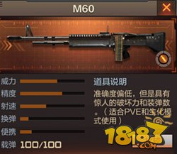 cf手游m60怎么样 穿越火线手游m60介绍