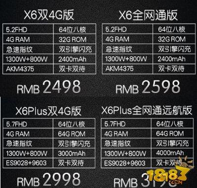vivox6价格多少钱 vivo x6/x6plus价格一览