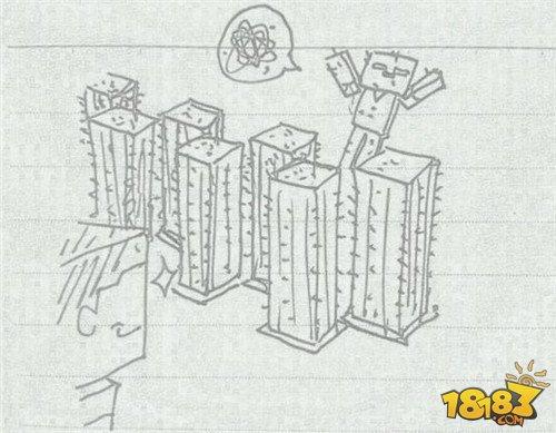 折叠水桶素描画