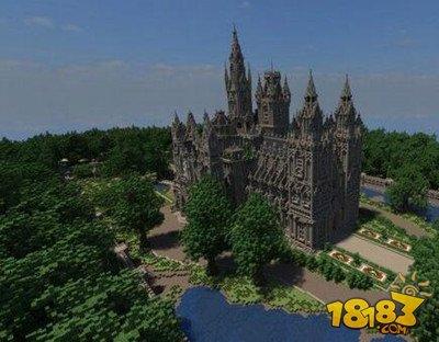 我的世界哥特式花园大教堂欧式风格地图下载图片
