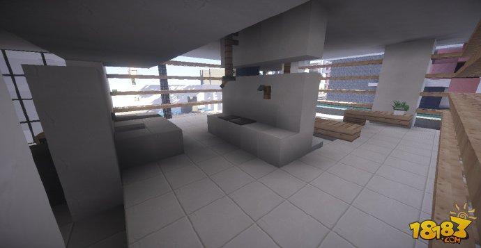 我的世界房子相信大家都会建造了,那么复杂的别墅小院呢?下面小编给大家介绍的是我的实际半日式现代住宅,一起来看看吧。 作者带着几分日式建筑的feel给我们呈现了这个地图,可以说篠君对其整体非常满意。室内设计上,如厨房和客厅一楼都相当不错,但地下部分,如浴室和卧室的元素有点与外部和一楼不相符。不管怎样,这所房子的外观和结构还是蛮有趣的。 我的世界半日式现代住宅图赏