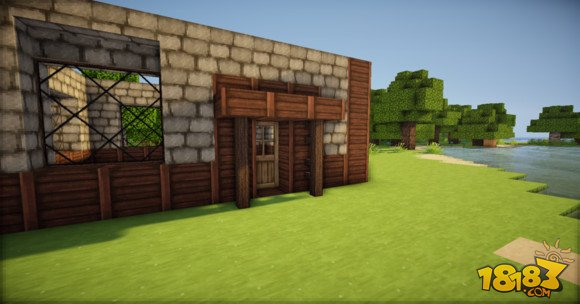 我的世界简单精致的欧式小房子建造教学(4)
