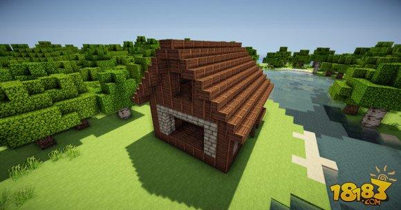 我的世界简单精致的欧式小房子建造教学(5)