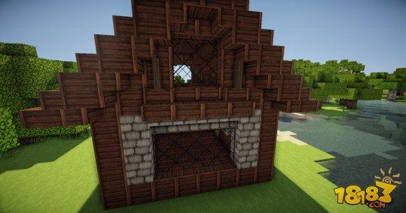 我的世界简单精致的欧式小房子建造教学(5)图片