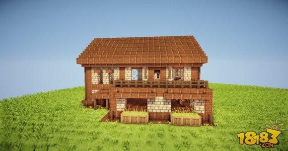 舒适简单 我的世界两层小别墅建筑制作图片