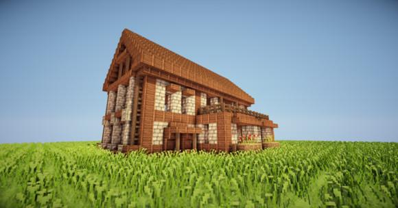 舒适简单 我的世界两层小别墅建筑制作
