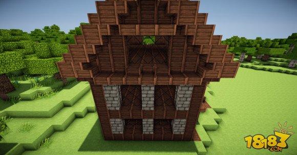 我的世界两层小别墅建筑制作(7)