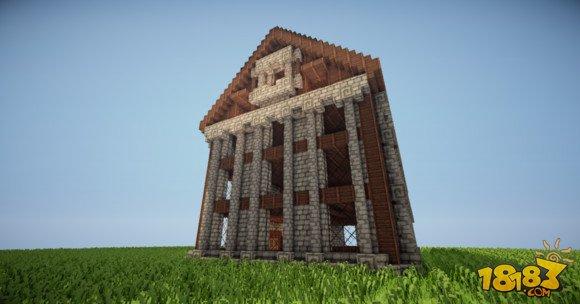 我的世界建筑教学:三层小旅馆建造方法