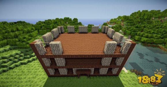 我的世界建筑教学:三层小旅馆建造方法(4)