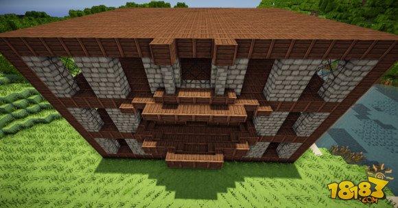 我的世界建筑教学:三层小旅馆建造方法(6)_18183我的 ...