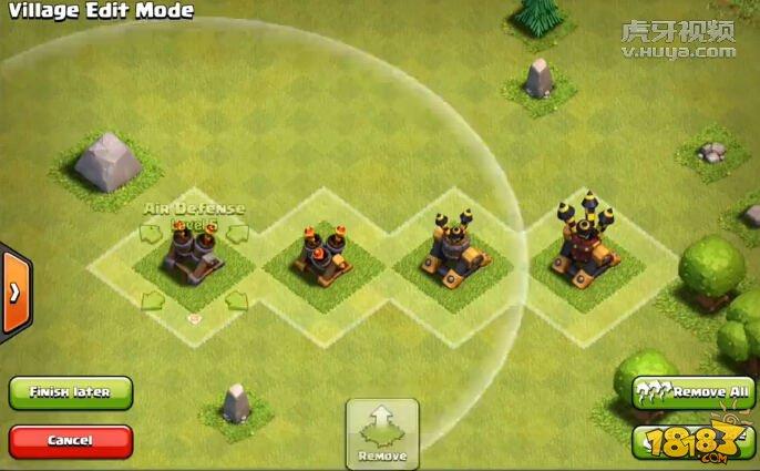 部落冲突9级迫击炮与4级地狱之塔图解