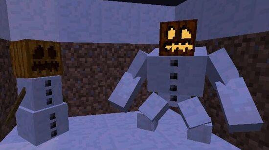 在我的世界里,玩家可以合成雪傀儡来作为自己的帮手