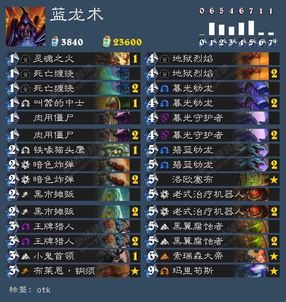 VC战队:炉石传说蓝龙术卡组玩法攻略