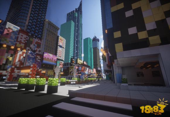我的世界建筑展示:纽约时代广场(2)_18183我的世界 ...