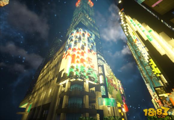 我的世界建筑展示:纽约时代广场(4)_18183我的世界 ...