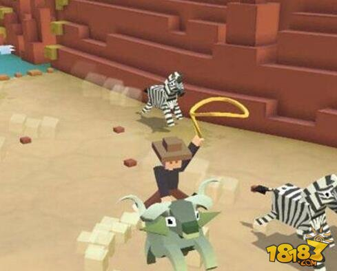 疯狂动物园双角兽抓取技巧 石头桩子通过方法